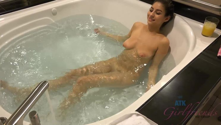 You're right by her pretty face while you pump her with cum.