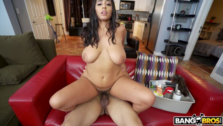 Maid With Huge Tits Gets Fucked