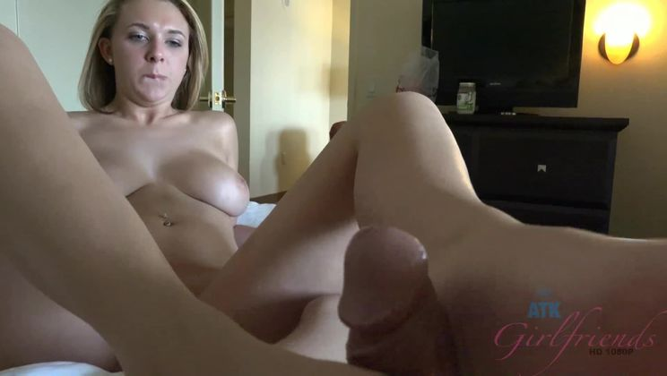 Wake Brooke up so you can cum on her tits