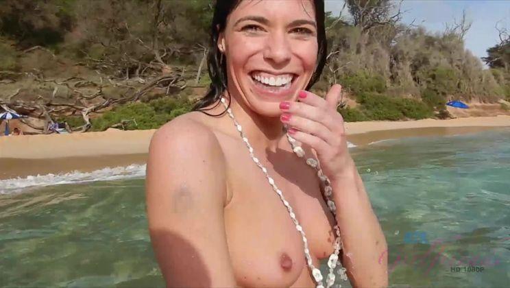 Vera loves the nude beach.
