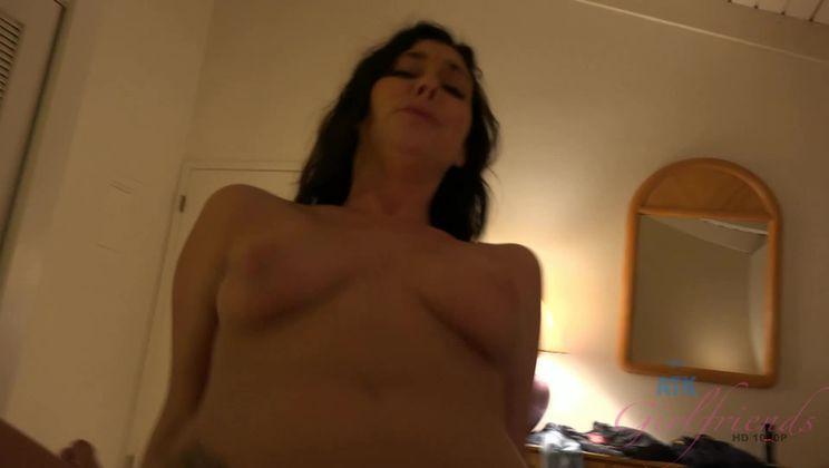 Your cum ends up on her face after you fuck her ass