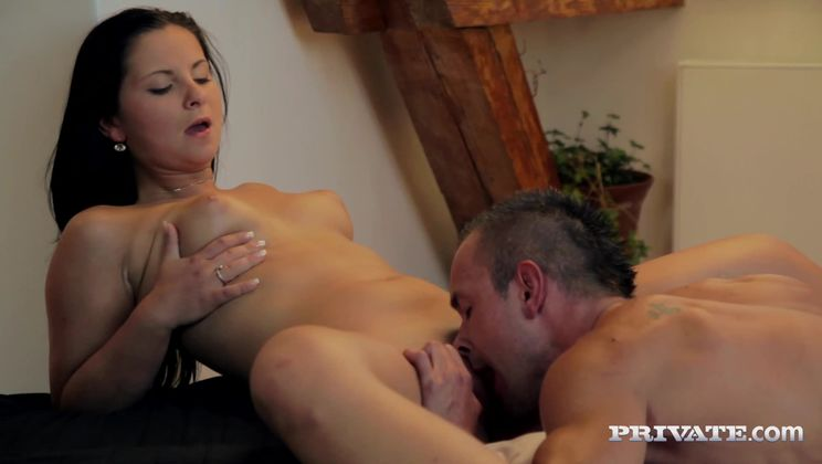 Crushing the Pussy Of Brunette Beauty Getting Cute