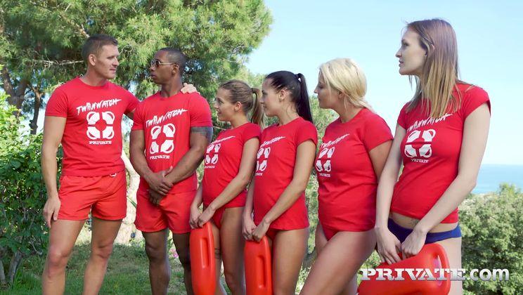 Silvia and Eveline Dellai, Twin Lifeguards in Anal Rescue