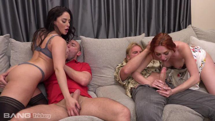Sheena Ryder & Lacy Lennon swap husbands for wild group sex!