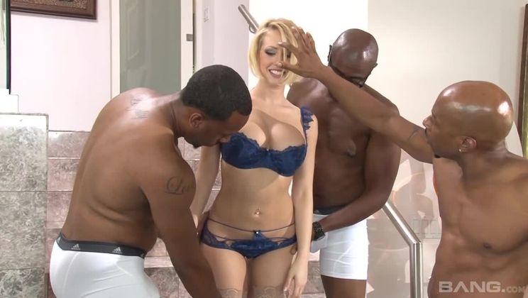 Kagney Linn Karter is stuffed until she's air tight with big black dick