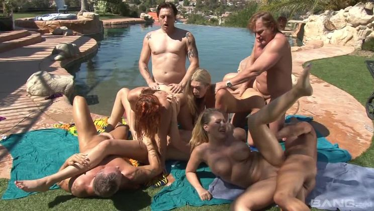 California swinger party starring Kagney Linn Karter with sex everywhere!
