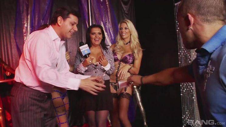 Jasmine Black, Sammy Jayne and Gemma Massey lead a group sex orgy