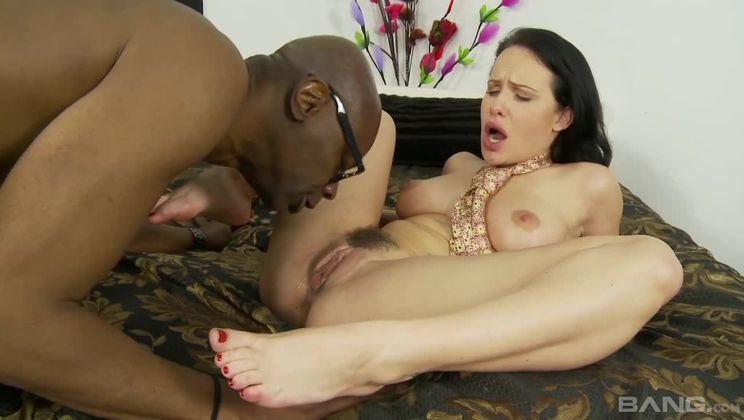 Wild woman Katie St. Ives gets her furry pussy pounded by BBC