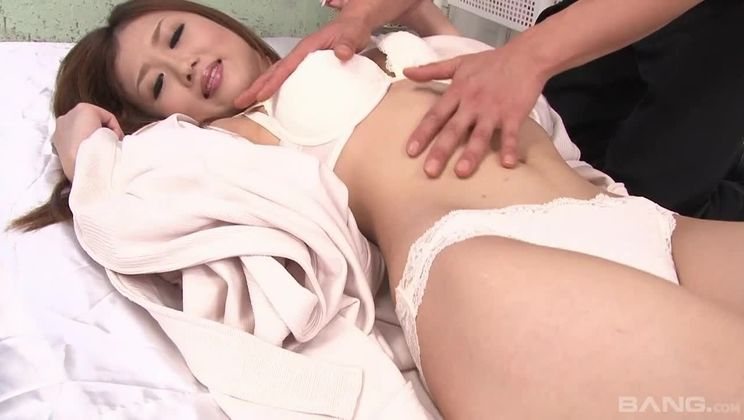 Horny Asian Girl Gets It All Done To Her On Her Satin Sheets