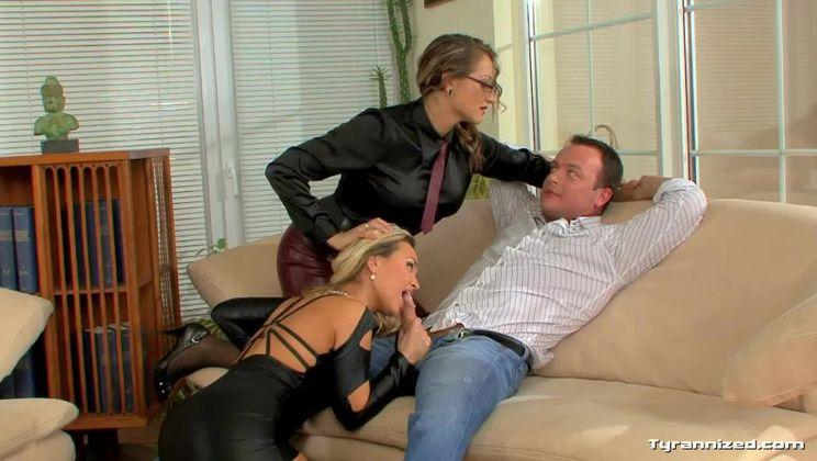 Gina Killmer Controls the Office Orgy Scene