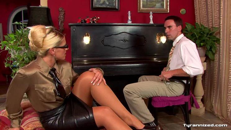 Hot Teacher Disciplines Student With Massive Buttplug