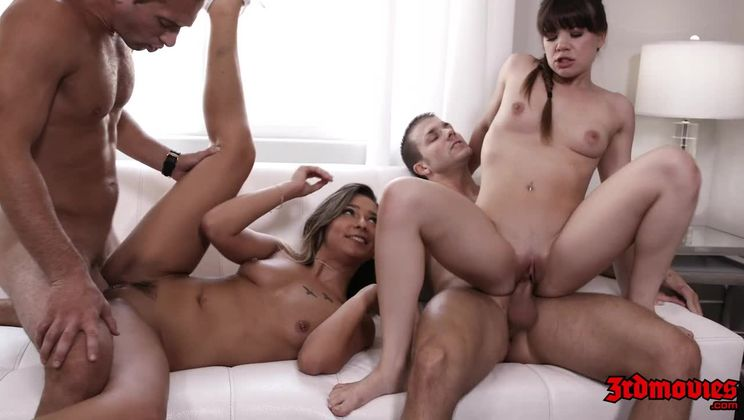 Hot Babysitters Loves Doing Orgy