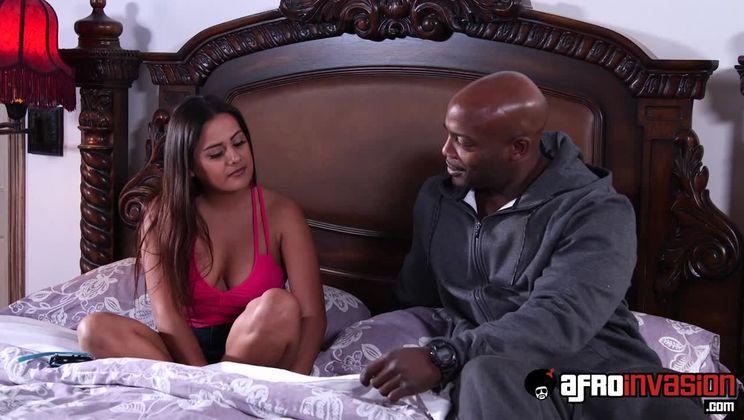 Selma Sinss Rides a Thick Black Cock