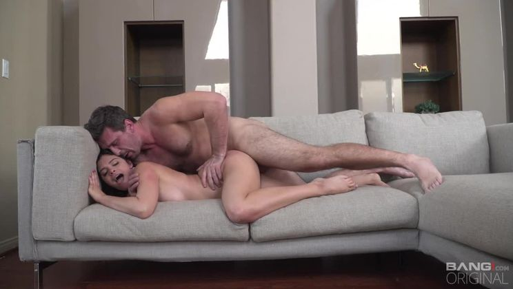 Violet Starr is so tight her pussy sticks to our studs thick dick