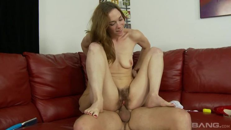 Sammy Grand goes all the way with hairy pits and huge bushed clit