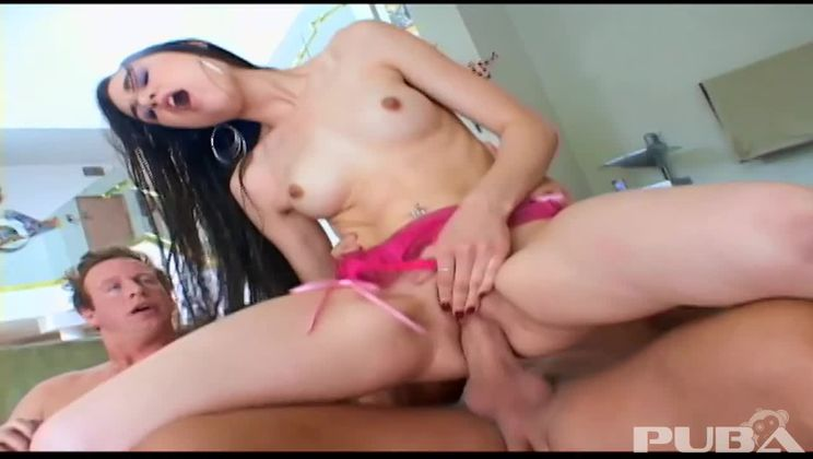 Insatiable Sasha Grey needs a cock in both her holes