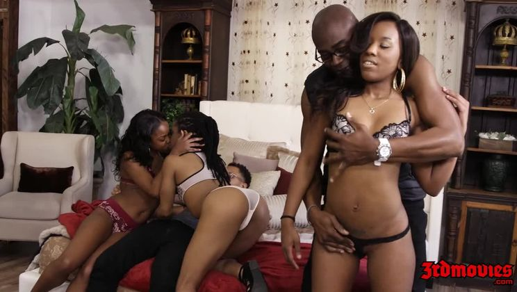 Hot Ebony Girls Gets Fucked Hard Interracially