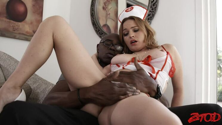 Drilling The Busty Nurse's Pussy