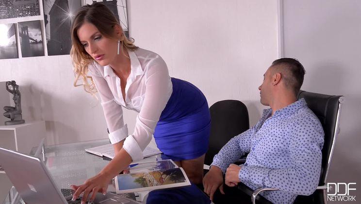 Horny Selection - Hungarian Hottie Sucks Big Cock in Office