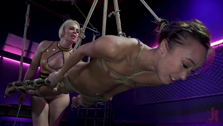 Latex Discipline: Helena Locke Punishes A Distracted Christy Love