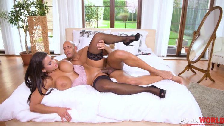 Hardcore interracial sex with busty Chloe Lamour cumming hard on dark man meat GP1320